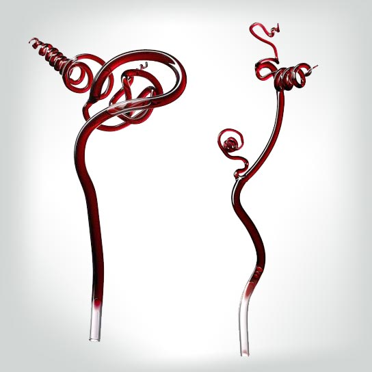 Penfolds glass tendrils